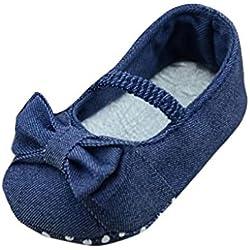 Zolimx Ragazze Bowknot Bambino piccolo Principessa girello (11CM, Blu)