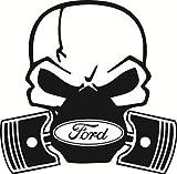Aufkleber Totenkopf Ford, fürs Auto, Vinyl, für Ford Fiesta, Mondeo, Focus ST, witzig, tolles Geschenk, humorvoll