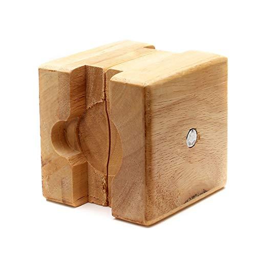 szlsl88 Uhrengehäuse Halter Öffner Clamp Movement Repair Tool Vintage Uhrmacher anpassen Square Wooden Vise Mini Reversible Block