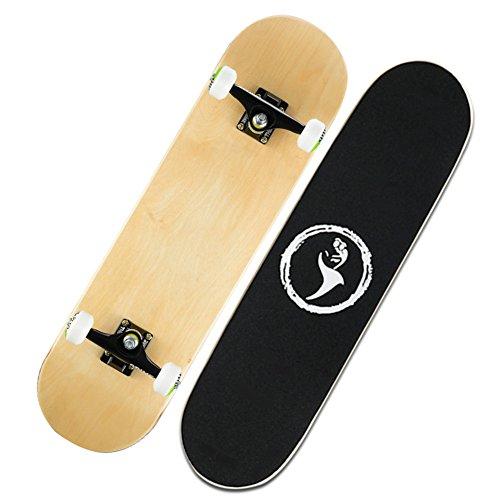 Professionelle doppelte Neigung Montage Folie/Kanadische Ahorn gebeizt Platten/Kinder skating Trainer/Adult Road Skateboard-C (Kanadische Platte)