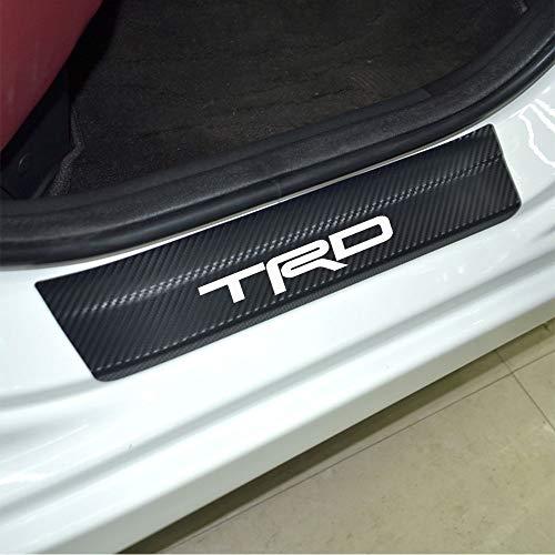 4pcs Door Stickers Carbon Fiber Car Scuff Plate Sticker TRD Vinyl Decal Sticker for Toyota Camry Corolla RAV4 Highlander CR-V C-HR Fortuner 4Runner Reiz - Toyota Trd Decals