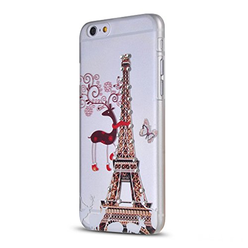 UKDANDANWEI Apple iPhone 6 Hülle Case - Bling Strass Ultra Dünn Hart PC Hülle Glitzer Rückseite Slim Etui Schale für Apple iPhone 6 -26 Bling-23