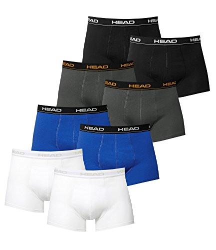 HEAD Herren Boxershorts 841001001 8er Pack, Wäschegröße:M;Artikel:2x Blue/Black / 2x Schwarz / 2x Weiß / 2x Dark Shadow