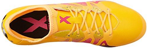 Adidas Performance X 15.2 Firm / künstlichen Boden Fu�ball Klampe, schwarz / Schock Mint / wei�, Gold/Black/Shock Pink