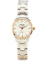 FOCE Analog White Dial Women's Classic Slim Watch - F496LRM-WHITE
