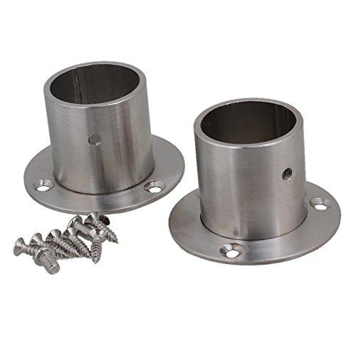 BQLZR en acier inoxydable Bride de tuyau Socket Rod Holder Support de fixation pour tuyau de 32 mm de diamètre de matériel Lot de 2