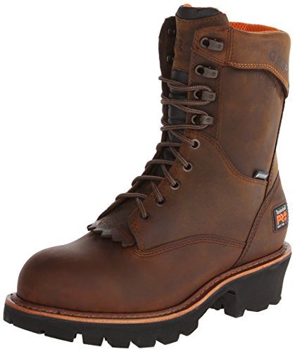 Timberland PRO Men's Rip Saw 9 Inch Soft Toe WP Logger,Brown Leather,10.5 W US Soft-toe Logger-boot