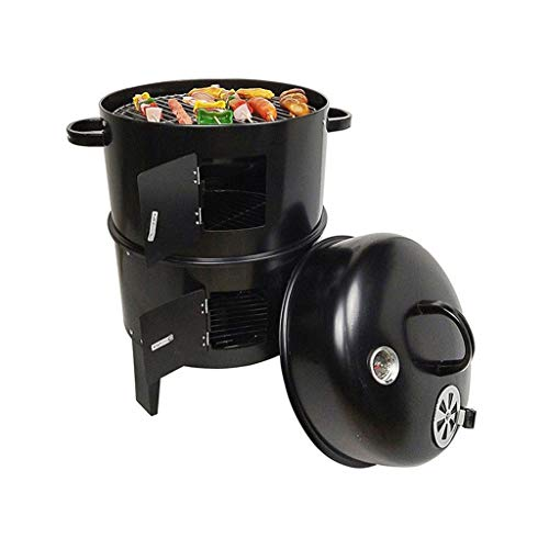 Outdoor-Raucher Barbecue Holzkohle Portable BBQ Grill Garten BBQ Grill Garten Kochen Camping Wandern Picknicks Barbecue Gril (Color : Black, Size : 40 * 84CM) -