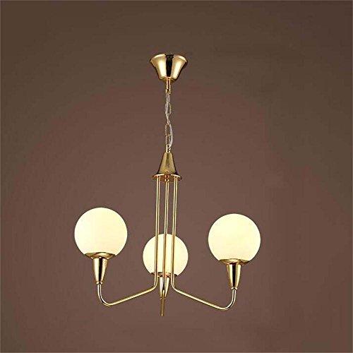 Risparmiare più energia lampadario --- Vetro ferro battuto, post-moderno minimalista americano lampadario Soggiorno Ristorante camera (2 Ferro Loft)