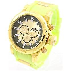 Big Man Novelty Watch Silicone Wrist Watch Green 2385