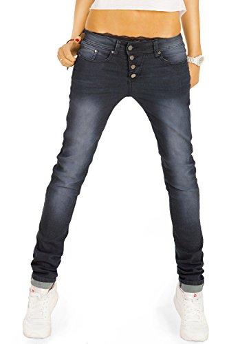 Boyfriend Jeans, Slim Fit Jeanshosen, Stretch Baggy Hosen j88kw 40/L (Damen Weites Bein Jeans Größe 14)