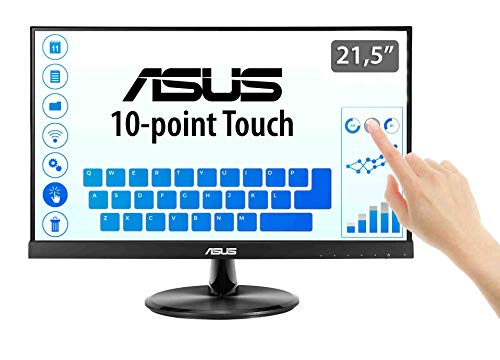 ASUS VT229H 21.5' Monitor, FHD (1920x1080), IPS, 10-point Touch Monitor, HDMI, Flicker free, Low Blue Light, TUV certified