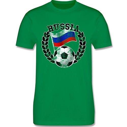 EM 2016 - Frankreich - Russia Flagge & Fußball Vintage - Herren Premium T-Shirt Grün