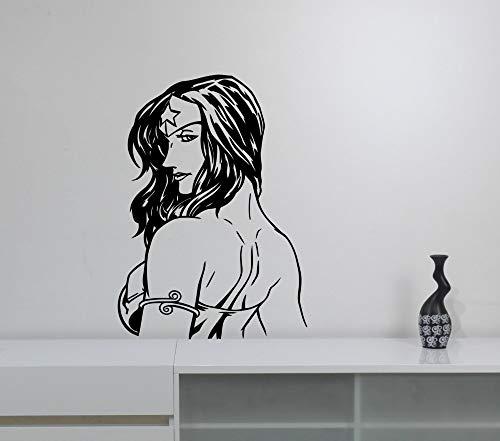rau Wandtattoo Cool Wonder Girls Marvel Comics Wandaufkleber Für Kinderzimmer Jugendliche Schlafzimmer Interior Decor Wandbild 57 * 80 cm ()