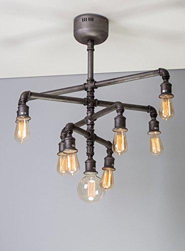 Steampunk Rohr Kronleuchter Vintage Industrie Leuchten Anhänger 9Edison Leuchtmittel