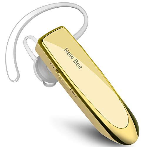 New Bee Bluetooth Headset Wireless Headset Bluetooth Freisprechen im Ohr mit Clear Voice Capture Technologie Bluetooth In-Ear Headset für iPhone Samsung Huawei HTC, Sony, usw