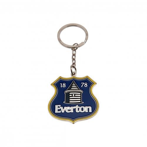 Everton FC Schlüsselring NC- Schlüsselanhänger aus Metall, Wappen, Durchmesser ca. 30 mm x 30 mm, mit Kopfzeile Karten, offizielles Lizenzprodukt (Nc-schlüsselanhänger)