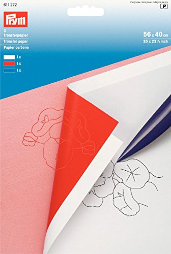 PRYM 611272 Transferpapier 56x40cm weiß/rot/blau