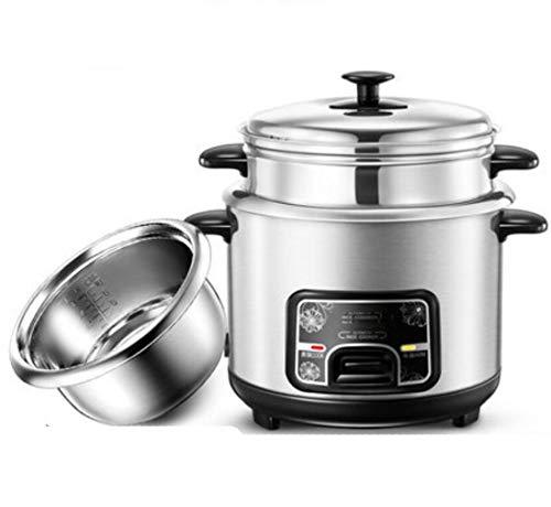 STEAM PANDA 5L Reiskocher Edelstahl Dämpfen/Kochen Doppelschicht Mechanische Einknopfbedienung 400w 220v 4L