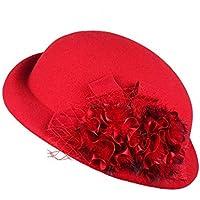 L&L Sombrero Sombrero de Mujer Moda de Invierno Sombrero Top Tendencia Elegante Gorra Salvaje de Europa y América (Color : D)