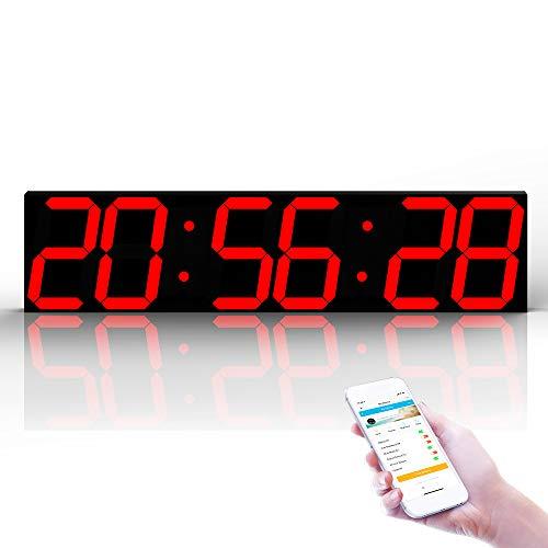 WNZL Control Remoto Jumbo Led Digital Reloj Pared
