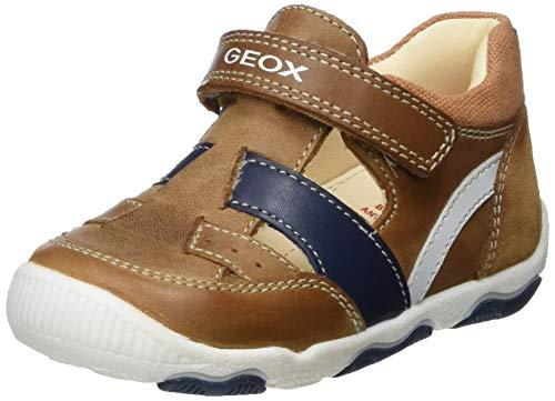 Geox New Balu' Boy B, Zapatillas con Velcro para Bebés, Beige Caramel C5102, 21 EU