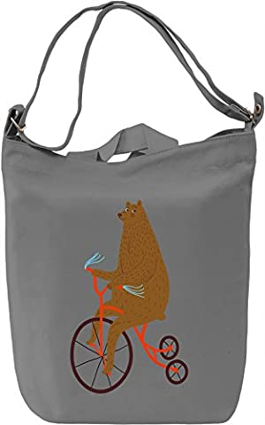 Circus bear Canvas Day Bag| 100% Premium Cotton Canvas| DTG Printing| Unique Handbags, Briefcases, Sacks & Custom Fashion Accessories For Men &