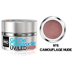 Gel of Construction UV / Led Mollon Pro 15 ml Camouflage Nude - 06
