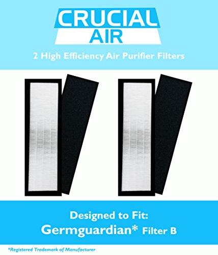 2 Germguardian Luftreiniger HEPA Filter B FLT4825, Guardian für 3 in 1 System, AC4825 AC4800, Serie, vergleichen Sie die Teilenummern #FLT4825, FLT 4825, Germguardian B Filter &Design, entworfen von Crucial