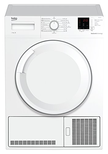 Beko DCU 7330 N Kondenstrockner / B / Xpress-Programm / Automatischer Knitterschutz /  BabyProtect Trocknen / Trommelbeleuchtung / weiß