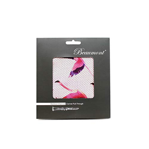 Beaumont Flamingo Hustle Klarinetten-Durchziehwischer aus Bambuskohle,  Klarinette in B - Putztuch Klarinette Wische für Klarinette, Reinigungstücher Klarinette Zubehör