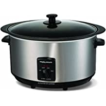 Morphy Richards Accents 48705 Sear and Stew Slow Cooker, 6.5 L - Brushed Stainless Steel
