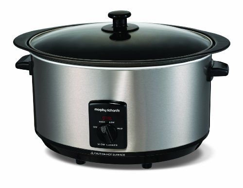 Morphy Richards Accents 48705 Sear and Stew Slow Cooker 6.5 Litres - Brushed