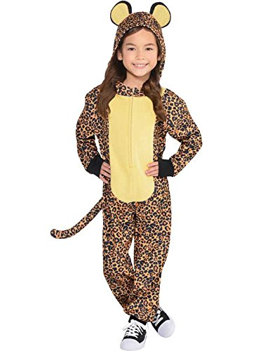 ress Safari Zoo Animal Book Day Girls Boys Childs Costume (Age 4-6 Years) (Leopard Hoodie Kinder Kostüme)