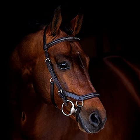 Horseware Ireland Rambo Micklem Deluxe Competition Bridle English Leather [Black] [Standard Horse]