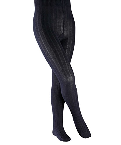falke kinderstrumpfhosen FALKE Mädchen Strumpfhosen / Strickstrumpfhosen Classic Rib - 1 Paar, Gr. 110-116, blau Baumwolle, hautfreundlich pflegeleicht, Leggings
