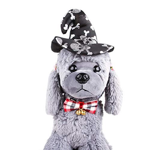 Amosfun Haustier Stirnband Halloween Kostüme Lustige Haarband Kopfschmuck Kostüm Zubehör für Katze Hund Welpe Halloween Party Favors (Schwarz) (Und Hund Halloween-kostüme Besitzer)