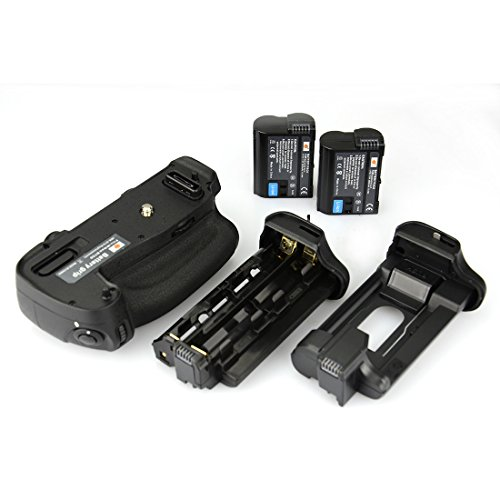 DSTE Multi Energia Verticale Batteria Presa per Nikon D750 DSLR Fotocamera come MB D16 con 2 pack EN EL15