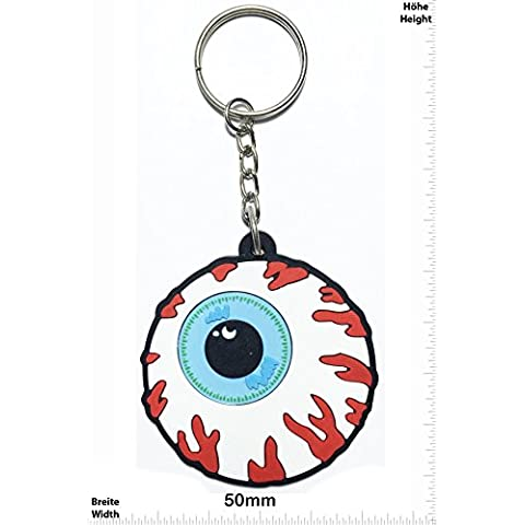 Portachiavi - Keychains - Bloody Eyes - Santa Cruz Skateboards - Skater - Wheels - Skaters - Sport - Key Ring - Kautschuk Rrubber Keyring - perfect also bags, wallets or briefcase - Give away