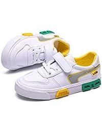 XL_etxiezi Zapatos Casuales Blancos para niños, Zapatos para niños y niñas, Blancos_26