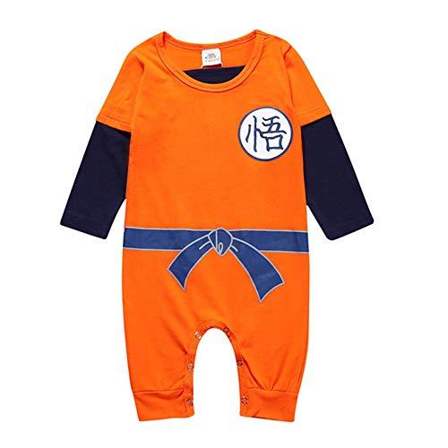 Goku Son Kostüm Mädchen - ALTcompluser Kinder Dragon Ball Son Goku Strampler Baby Body Romper Kleidung Jungen Mädchen(100 Stil 3)