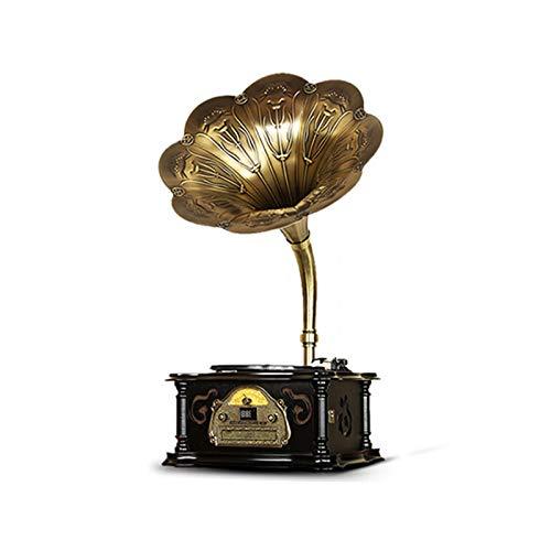 GOM Platine Vinyle, Vintage Phonographe Conversion avec Trois Vitesses 33/45/78 Tours Soutien Lecture de CD Sorties RCA GOM-007 (Color : Black, Size : Floorstanding)