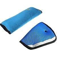 Tuopuda Cuscino Cintura Cintura Auto Imbottitura Cintura Ideale Come Cuscino Supporto per la Testa Sicurezza in Auto per Bambini Cuscino Spalla Cuscino Cintura (blu)