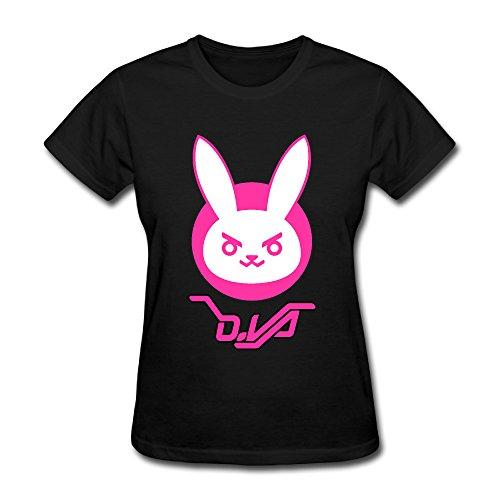 Q-QQ9 Damen T-Shirt Gr. L, schwarz (Games Hunger Custome)