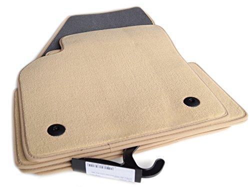 tapis-de-sol-pour-volvo-c30-s40-v50-produit-car-mats-velours-beige-4-pieces