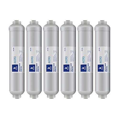 6 AICRO SWAN Kühlschrankfilter. Inline Wasserfilter für Haier, CDA, Firstline, Frigistar. Kompatibel mit HB21FWNN,HRF-661FFA,HRF-662FFASS