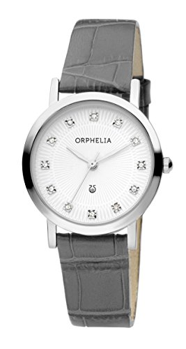 Orphelia Damen-Armbanduhr Moonlight Analog Quarz Leder