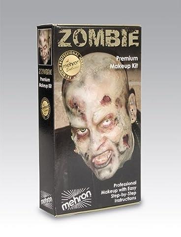 Mehron - Kit Ensemble Maquillage Professionnel Pour Effets Spéciaux Zombie Halloween