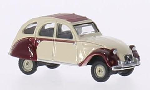 Citroen 2CV Dolly, rouge foncé/beige, 0, voiture miniature, Miniature déjà montée, Oxford 1:76