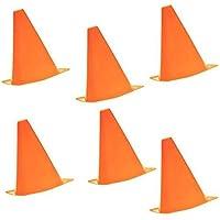 TYKusm Cono Multifunción para Entrenamiento de Fútbol, Fútbol, Deportes y Campo (6 Unidades), Color Naranja